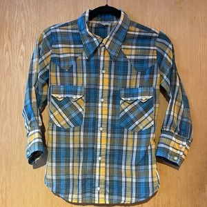 Vintage Western Wear Taxi CDC Plaid Snap Up Shirt